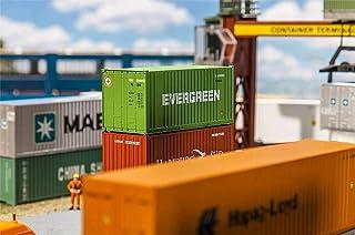 FALLER FA 180821 – 20 Container Evergreen, tillbehör för modellterräng, modellbygge