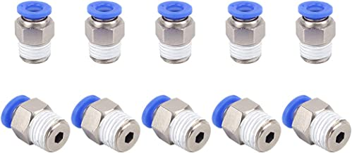 Push to Connect Fittings 8mm or 5//16 OD Manifold Union Tube Fittings 2pcs