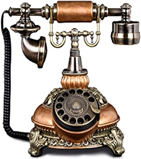 Classic Old-Fashioned Telephone, Turntable Dial Retro Wired Telephone Hotel Room Landline Retro Landline