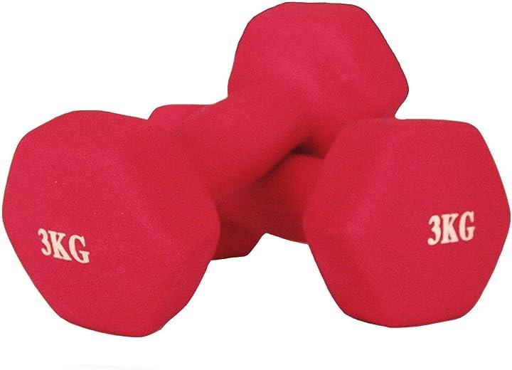 Manubri in neoprene per fitness yoga esercizi,manubri con antiscivolo e morbido B078HKN7F8