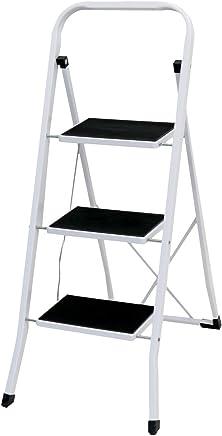Oypla Foldable 3 Step Ladder Stepladder Non Slip Tread Safety Steel