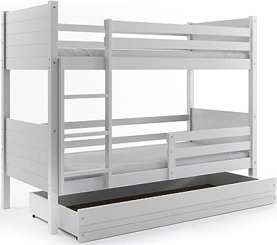 Interbeds Cama litera Infantil CLIR, 190x90, con cajón, con somieres, con colchónes