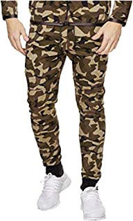Snowmolle Men's Closed Bottom Sweatpants Pockets Drawstring Camo Joggers Pants for Gym Workout