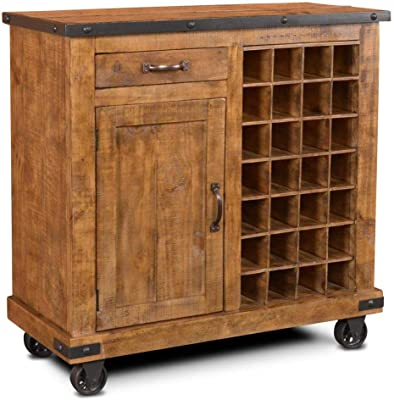 Amazon.com - Rustic Deco Industrial Metal Bar Cabinet 38 ...