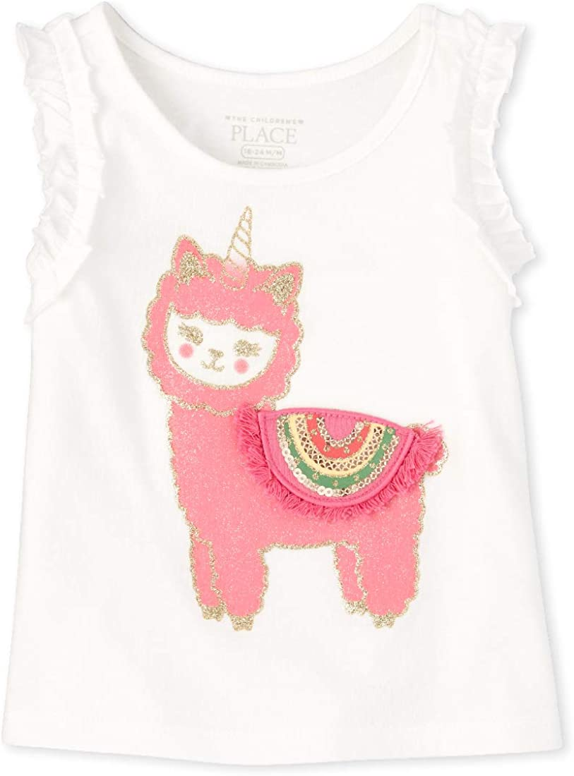The Quality inspection Children's Place Baby Year-end annual account Graphic Tank Girls' Tops