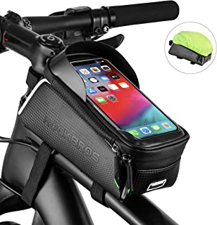 ROCKBROS Bike Phone Bag Bicycle Front Frame Bag Waterproof Top Tube Cycling Bags Phone Case with...