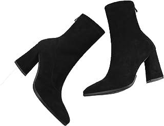 Stivali a calzino da Donna Stivaletti con Tacco Alto a Punta Slip-on con Tacco Alto Stivali Comodi e semplici da Donna con...
