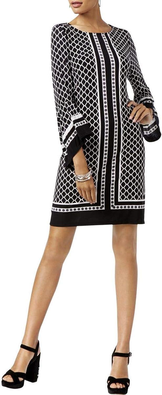 Inc Womens Bell Sleeves Party Mini Dress B W M