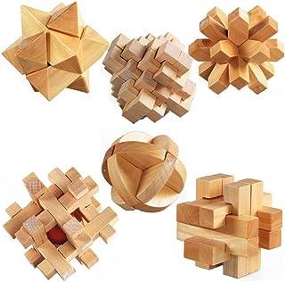 ULT-unite3D Wooden Cube Brain Teaser Puzzle