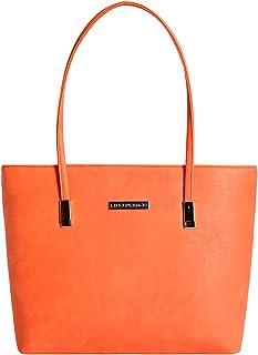 Lino Perros Women's Artificial Leather Tote Bag (Orange)