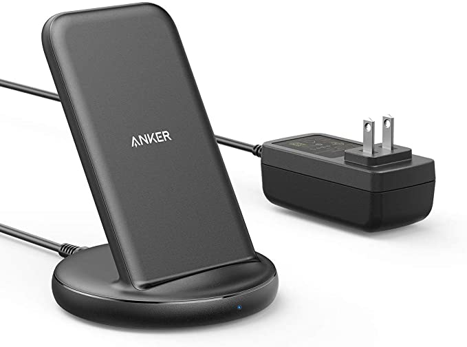 Anker PowerWave II Stand ワイヤレス充電器 ACアダプタ付属 Qi認証 iPhone 12 / 12 Pro Galaxy Pixel 各種対応 最大15W出力 (ブラック)