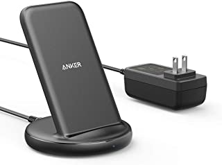 Anker PowerWave II Stand ワイヤレス充電器 Qi 認証 iPhone 11 / 11 Pro / 11 Pro Max / SE(第2世代)/ XS / XS Max / XR / X / 8 / 8 Plus / Pixel 4 / Pixel 4 XL / LG / Xperia / Galaxy S10 / S9 / S8 / Note 10 / Note 9 その他Qi対応機器各種対応 最大15W出力 ACアダプタ付属 ブラック