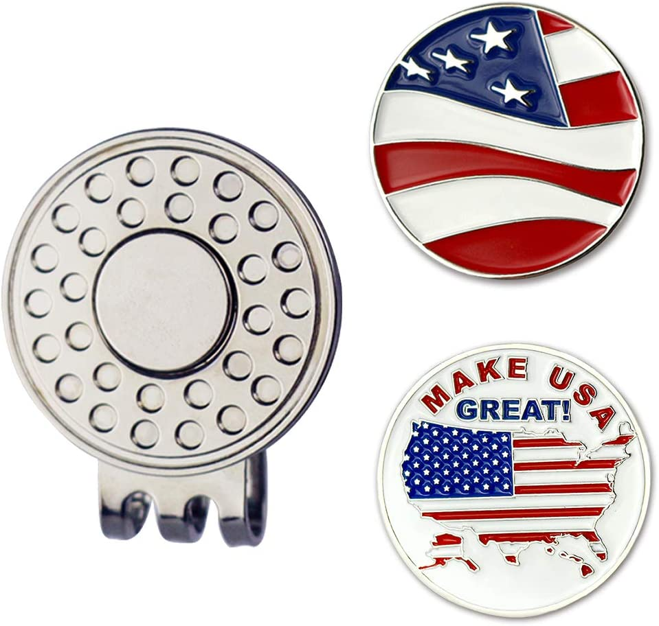 New sales GOLTERS Golf Ball Marker Clearance SALE! Limited time! with Gift Hat Sets Clip