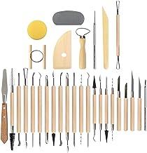 Conjunto de 45 ferramentas de cerâmica para argila da Vosarea para artesanato profissional para iniciantes, artesanato de ...