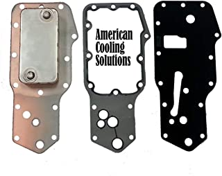 New Replacement Heavy Duty Oil Cooler & Gasket Kit 3957544 for Oliver White, CASE-IH, Cummins Engines