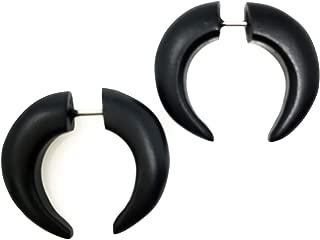 UMBRELLALABORATORY Tribal Organic Wooden Earrings Fake Gauges Sold As Pair Bohemian Jewelry Beach Tropical Tattoo