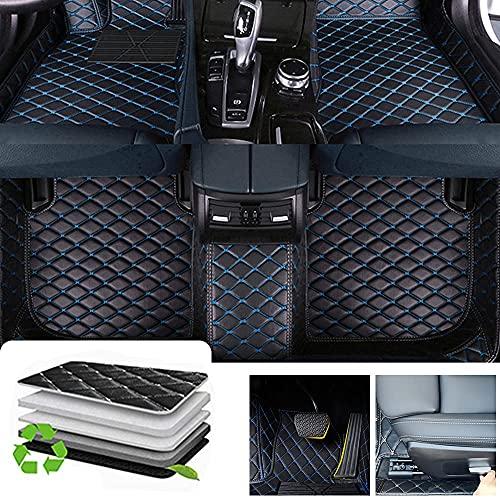 Awotzon Alfombrillas de piso personalizadas con diamante para Dodge Dart Journey, para todo tipo de clima, resistentes al agua, juego completo, negro y azul