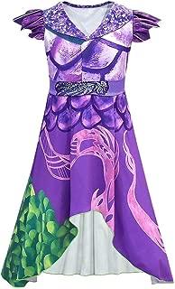 Girls Women Dragon Mal Audrey Dress Costume Jumpsuit Bodysuit for Halloween Cosplay