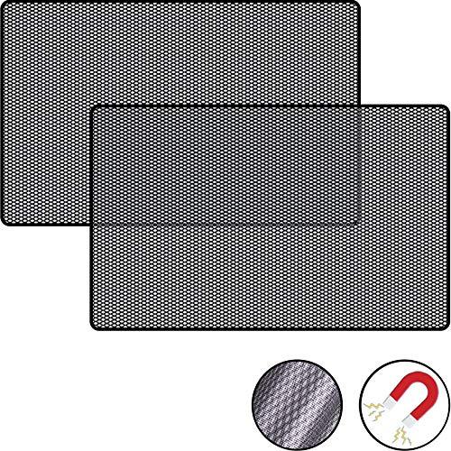 Lechin - Parasole per auto, con protezione dai raggi UV, per finestrini laterali dell'auto, in tessuto a rete, 2 pezzi
