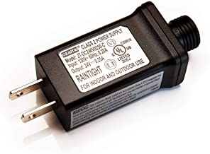 Retaillink Class 2 Power Supply (JT-DC240V0250-C) UL-Listed US Plug Power Adapter for Most Chrismas Trees and LED Strip Light, Check Description for More Compatible Products