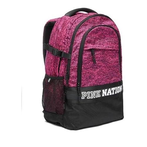 Victorias Secret Pink Logo Marl Large Collegiate Backpack Bookbag Carry On Color