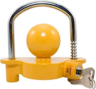 Trailer Lock,Lepeuxi Heavy Duty Universal Coupler Hitch Trailer Lock Fits 1-7/8'', 2'', And 2-5/16''