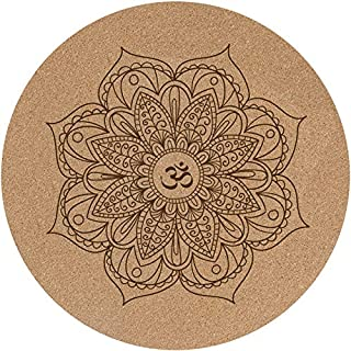 Round Yoga Mat/Meditation Mat, Rubber Non-Slip Carpet, Doormat - for Men and Woman, Diameter 60cm (Perfect Gift)