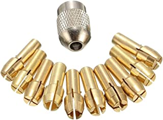 Bodbii 11PCS / Set Brass Portabrocas Collet bits 0.5-3.2mm 4