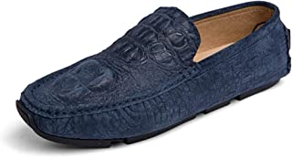 bajo precio del 40% Moda en Relieve Penny Penny Penny Loafers para Hombres de Cuero Genuino Ligero Transpirable Vestido de Negocios de Boda Zapatos Casuales Antideslizante Plana Slip-on Dedo del pie rojoondo .Zapatos de Moda  almacén al por mayor