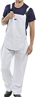 Islander Fashions Mens Cotton/Polyester Drill Bib and Brace Adult Painter Dungarees Work Trousers Overalls Waist 32 to 48 ...