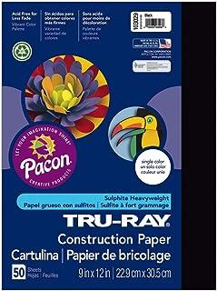 Tru-Ray Heavyweight Construction Paper, Black,  9