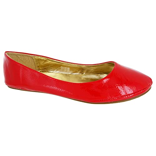 e3ada4bbbf22 Other Ladies Black Red White Silver Gold Flat Ballet Ballerina Pump Dolly  Work Shoe 3-
