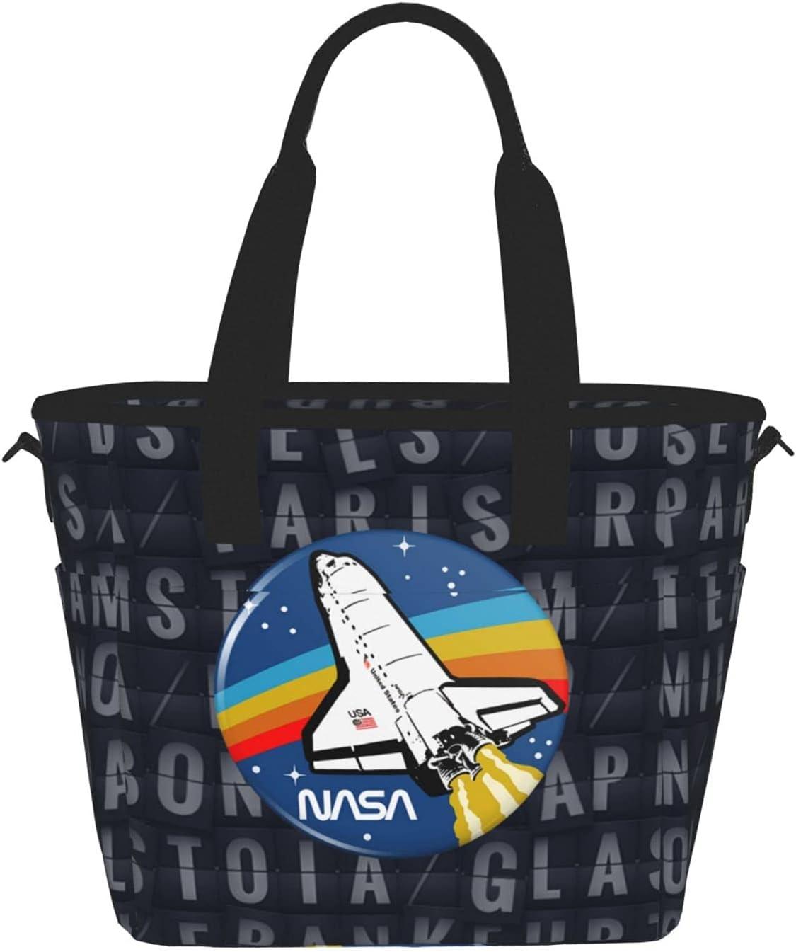 Nasa Retro Insulated Lunch Bag For Reusa Bags Women Kids Challenge ...