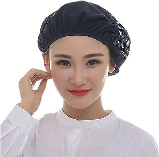 Nanxson 5pcs Unisex Mob Caps Elastic Chef Hat Kitchen Baking Cooking Hat Mesh Food Service Hair Net for Men Women CF9023