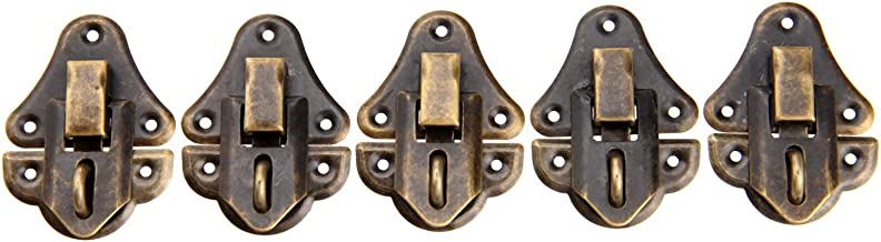 Nologo SSB-JIAOLIAN, 5 Stuks 48x35mm Antiek Bronzen Metalen Sluiting Sieraden Geschenkdoos Vallen Buckles Toggle Haspe Lat...