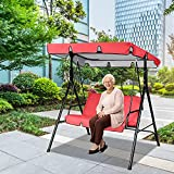 LACACA Swing Canopy Replacement Patio Swing Canopy Replacement Waterproof Top Cover for Swing Dustproof Protective Covers for 3 Seat Garden Swing Canopy Cover for Patio Garden Yard
