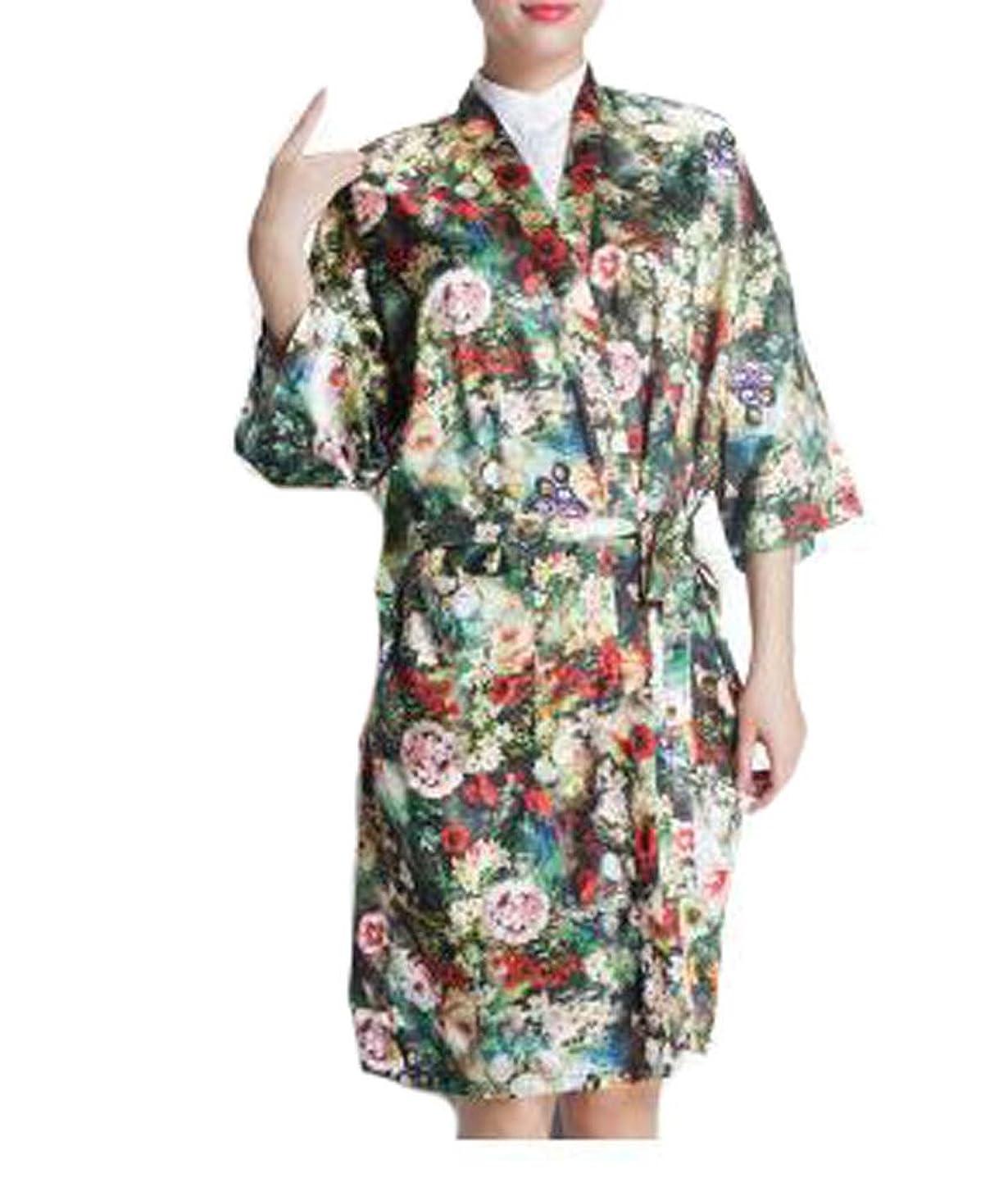 牧草地急勾配のコミュニケーションサロンクライアントのドレス、クライアント、花のための上品なローブ美容院