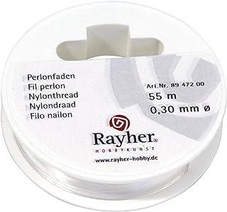 Rayher 8947200 Perlonfaden, 0,3mm ø, Reißfest 4kg,Hängelast 700g, Roll
