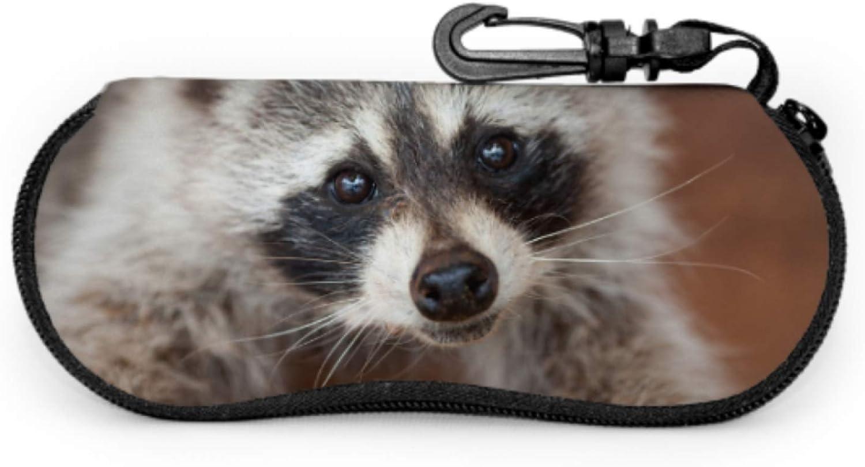 Lovely Cute Raccoon Eyeglass Case Soft Sunglass Case Light Portable Neoprene Zipper Soft Case Sunglasses Women Case