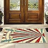 Aoutecen Alfombra de Estilo Vintage, cómoda, Buena absorción de Humedad para el Uso de la Cocina del vestíbulo(40cm×120cm)