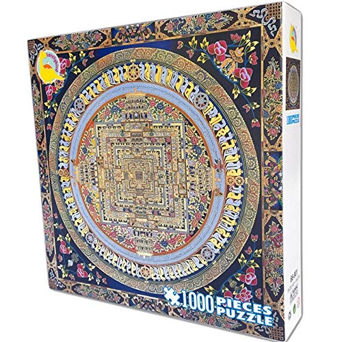 MAYL 1000 Unidades de difícil Puzzles Adultos, Thangka (Cuadrado)