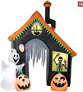 AIR CHARACTERS 9' Gemmy Airblown Inflatable Archway Funky Whimsey House Halloween Yard Decoration 59343