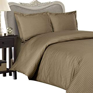 8PC ITALIAN 600TC Egyptian Cotton GOOSE DOWN COMFORTER Bed in a Bag - Sheet , Duvet King Taupe St