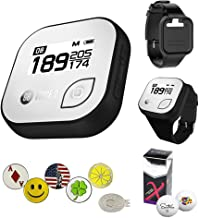 Golf Buddy Voice 2 Golf GPS/Rangefinder Bundle with Wrist Band, 5 Ball Markers, 1 Magnetic Hat Clip and Saintnine 2 Ball Sleeve