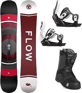 Flow 2020 Vert 156 Men's Complete Snowboard Package Bindings Nidecker BOA Boots