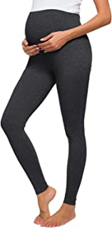 Women's Maternity Stretchy Pants Soft Lounge Trousers for Pregnant Women