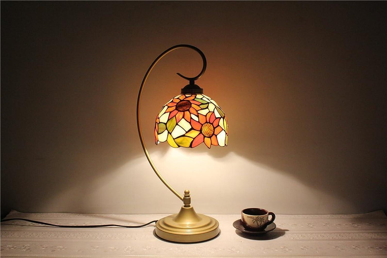 GRY 8 Zoll Sunflower Glas Tischlampe Schlafzimmer Ehe Festliche Lichter Lichter Lichter Bar Restaurant Gästezimmer Lampe B07D8SKLBK | Preisreduktion  87b4a8
