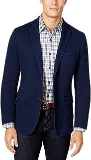 Tasso Elba Mens Classic Fit Knit Sportcoat Navy XL