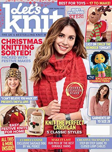 Magazine Let's Knit - Christmas Knitting Sorted ! November 2020: (PDF) Form (English Edition)