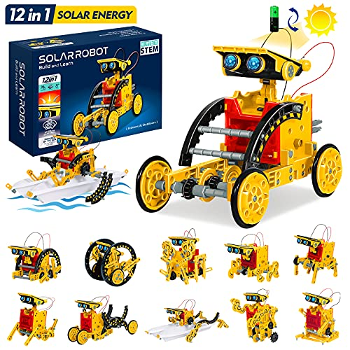 GALOPAR STEM Projects for Kids Ages 8-12, Solar Robot 12-in-1 Building Toys, Gifts for 8 9 10 11 12...